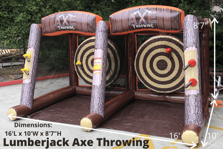 "^Lumberjack (axe throwing) *(16'L x 10'W x 8'7""H)"