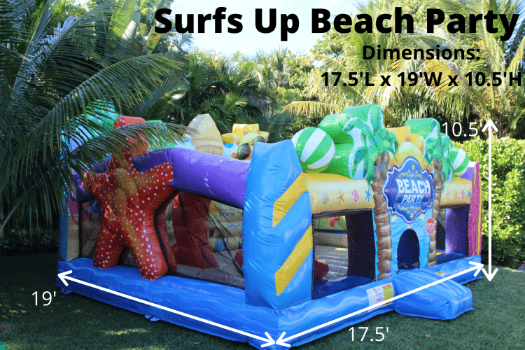 Toddler Surfs Up Beach Party (17.5L 19W 10.5H)